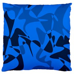 Blue Pattern Standard Flano Cushion Case (one Side) by Valentinaart