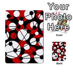 Red, Black And White Pattern Multi Purpose Cards (rectangle)  by Valentinaart