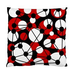 Red, Black And White Pattern Standard Cushion Case (one Side) by Valentinaart