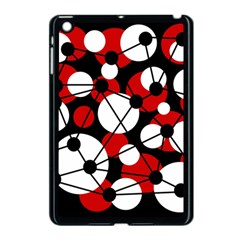 Red, Black And White Pattern Apple Ipad Mini Case (black) by Valentinaart