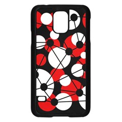 Red, Black And White Pattern Samsung Galaxy S5 Case (black) by Valentinaart