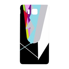 Colorful Abstraction Samsung Galaxy Alpha Hardshell Back Case by Valentinaart