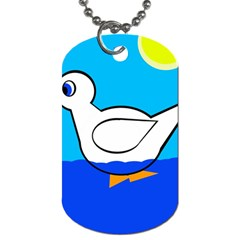 White Duck Dog Tag (two Sides) by Valentinaart