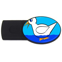 White Duck Usb Flash Drive Oval (4 Gb)  by Valentinaart