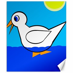 White Duck Canvas 20  X 24   by Valentinaart