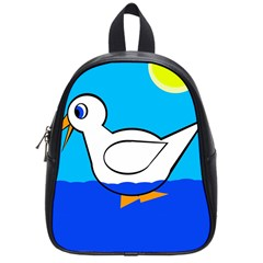 White Duck School Bags (small)  by Valentinaart