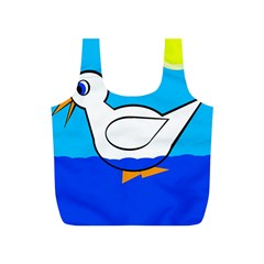 White Duck Full Print Recycle Bags (s)  by Valentinaart