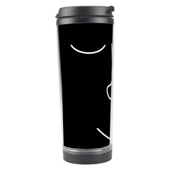 Sleeping Face Travel Tumbler by Valentinaart