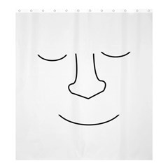 Sleeping Face Shower Curtain 66  X 72  (large)  by Valentinaart