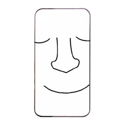 Sleeping Face Apple Iphone 4/4s Seamless Case (black) by Valentinaart