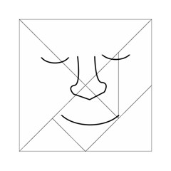 Sleeping Face Acrylic Tangram Puzzle (6  X 6 ) by Valentinaart