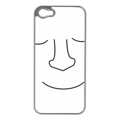 Sleeping Face Apple Iphone 5 Case (silver) by Valentinaart