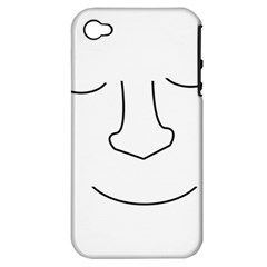 Sleeping Face Apple Iphone 4/4s Hardshell Case (pc+silicone)