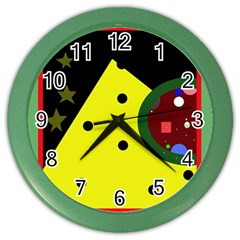Abstract Design Color Wall Clocks by Valentinaart