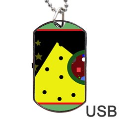 Abstract Design Dog Tag Usb Flash (one Side) by Valentinaart