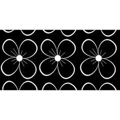 Black And White Floral Pattern You Are Invited 3d Greeting Card (8x4) by Valentinaart
