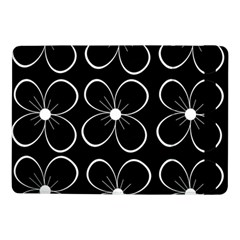 Black And White Floral Pattern Samsung Galaxy Tab Pro 10 1  Flip Case by Valentinaart