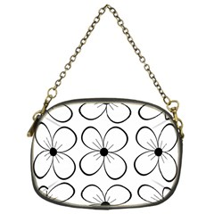 White Flowers Pattern Chain Purses (one Side)  by Valentinaart