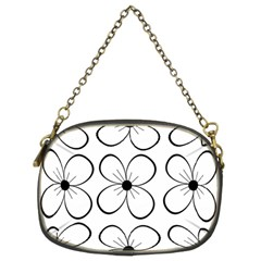 White Flowers Pattern Chain Purses (two Sides)  by Valentinaart