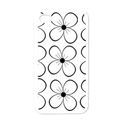 White Flowers Pattern Apple Iphone 4 Case (white) by Valentinaart