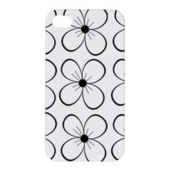 White Flowers Pattern Apple Iphone 4/4s Premium Hardshell Case by Valentinaart
