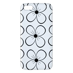White Flowers Pattern Apple Iphone 5 Premium Hardshell Case by Valentinaart