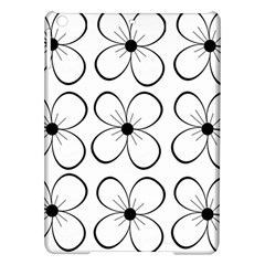 White Flowers Pattern Ipad Air Hardshell Cases