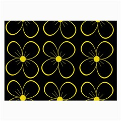 Yellow Flowers Large Glasses Cloth by Valentinaart