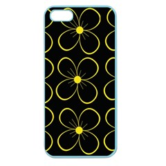 Yellow Flowers Apple Seamless Iphone 5 Case (color) by Valentinaart