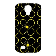 Yellow Flowers Samsung Galaxy S4 Classic Hardshell Case (pc+silicone) by Valentinaart