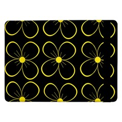 Yellow Flowers Samsung Galaxy Tab Pro 12 2  Flip Case by Valentinaart