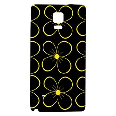 Yellow Flowers Galaxy Note 4 Back Case by Valentinaart