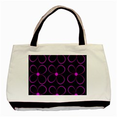 Purple Floral Pattern Basic Tote Bag (two Sides) by Valentinaart