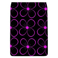 Purple Floral Pattern Flap Covers (s)  by Valentinaart