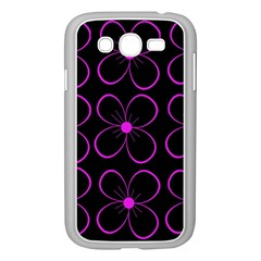 Purple Floral Pattern Samsung Galaxy Grand Duos I9082 Case (white) by Valentinaart
