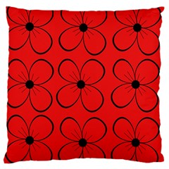 Red Floral Pattern Standard Flano Cushion Case (one Side) by Valentinaart