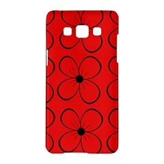 Red Floral Pattern Samsung Galaxy A5 Hardshell Case  by Valentinaart