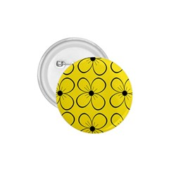 Yellow Floral Pattern 1 75  Buttons by Valentinaart