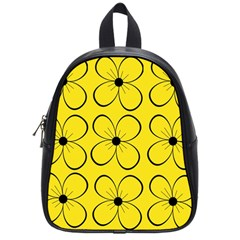 Yellow Floral Pattern School Bags (small)