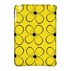 Yellow Floral Pattern Apple Ipad Mini Hardshell Case (compatible With Smart Cover) by Valentinaart