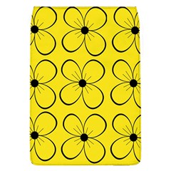 Yellow Floral Pattern Flap Covers (l)  by Valentinaart