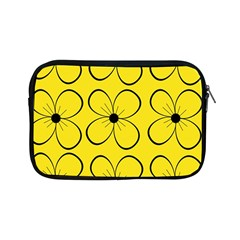 Yellow Floral Pattern Apple Ipad Mini Zipper Cases by Valentinaart