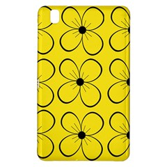 Yellow Floral Pattern Samsung Galaxy Tab Pro 8 4 Hardshell Case by Valentinaart