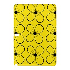 Yellow Floral Pattern Samsung Galaxy Tab Pro 12 2 Hardshell Case by Valentinaart
