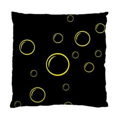 Yellow Bubbles Standard Cushion Case (one Side) by Valentinaart