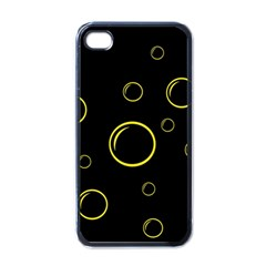 Yellow Bubbles Apple Iphone 4 Case (black) by Valentinaart