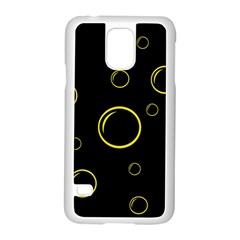 Yellow Bubbles Samsung Galaxy S5 Case (white) by Valentinaart