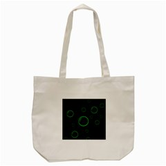 Green Buubles Pattern Tote Bag (cream) by Valentinaart