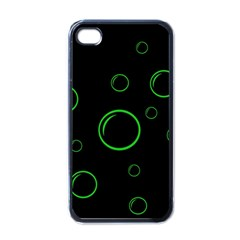 Green Buubles Pattern Apple Iphone 4 Case (black) by Valentinaart