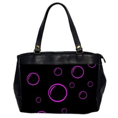 Purple Bubbles  Office Handbags (2 Sides)  by Valentinaart